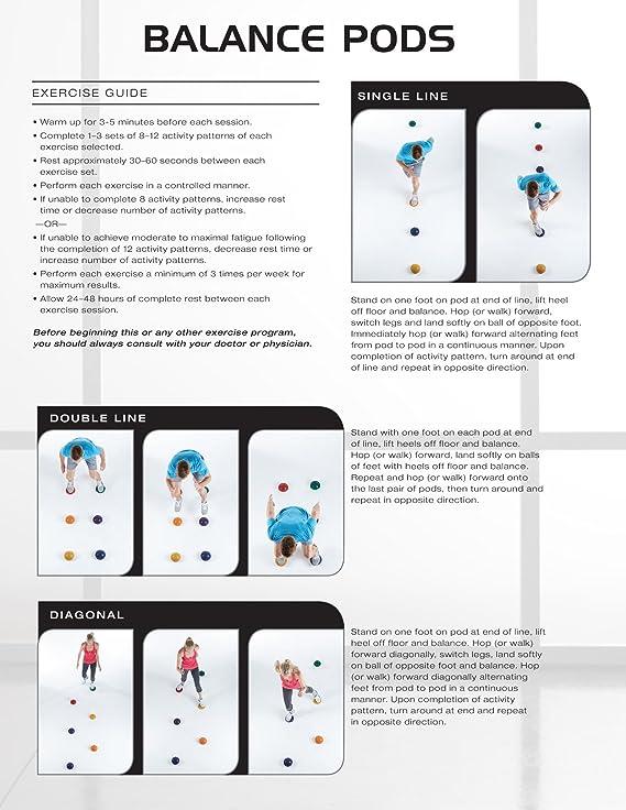 f8cc3cdf7bd Amazon.com   SPRI Balance Pods Hedgehog Stability Balance Trainer Dots (Set  of 6)   Balance Boards   Sports   Outdoors