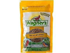 Wagner's 58001 Mealworms Wild Bird Food, 7-Ounce Bag