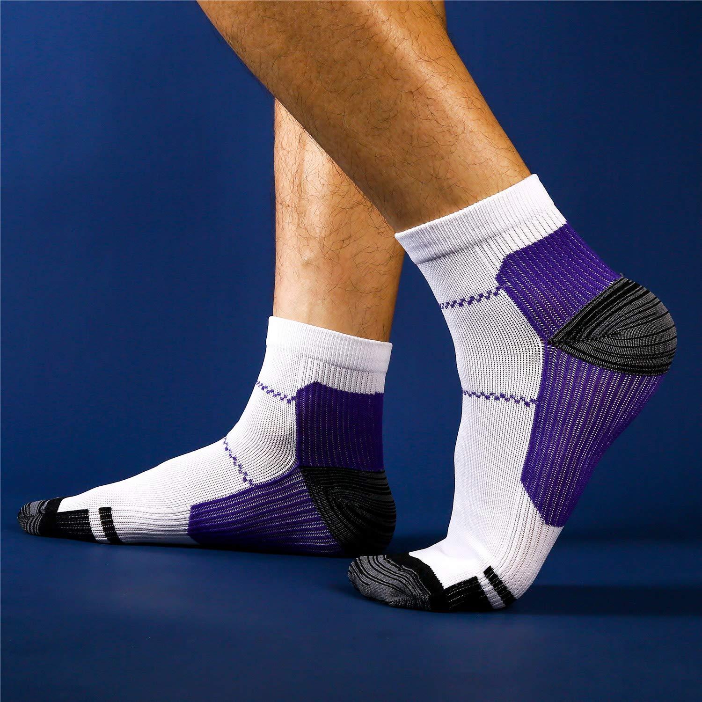 Weekend Peninsula 5 paia di Calze Running Sportive Compressione Leggera Uomo Donne Calzini Running Sportivi Uomo Donne