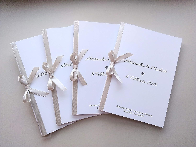 9 libretti messa matrimonio - messale nozze: Amazon.it: Handmade