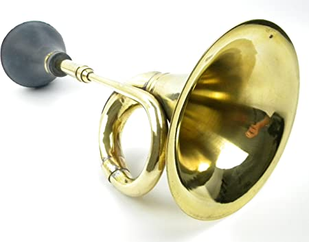 Oldtimer Hupe Messing Ballhupe Autohupe Tröte Nostalgie Fahrrad Horn Vintage Neu