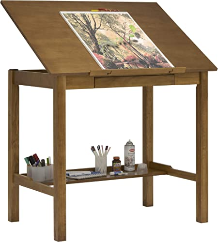 STUDIO DESIGNS Americana II Drafting Table 30in x 42in Light Oak 13254