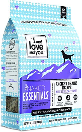 I and love and you Naked Essentials Dry Dog Food – Ancient Grains Kibble Variety Of Flavors