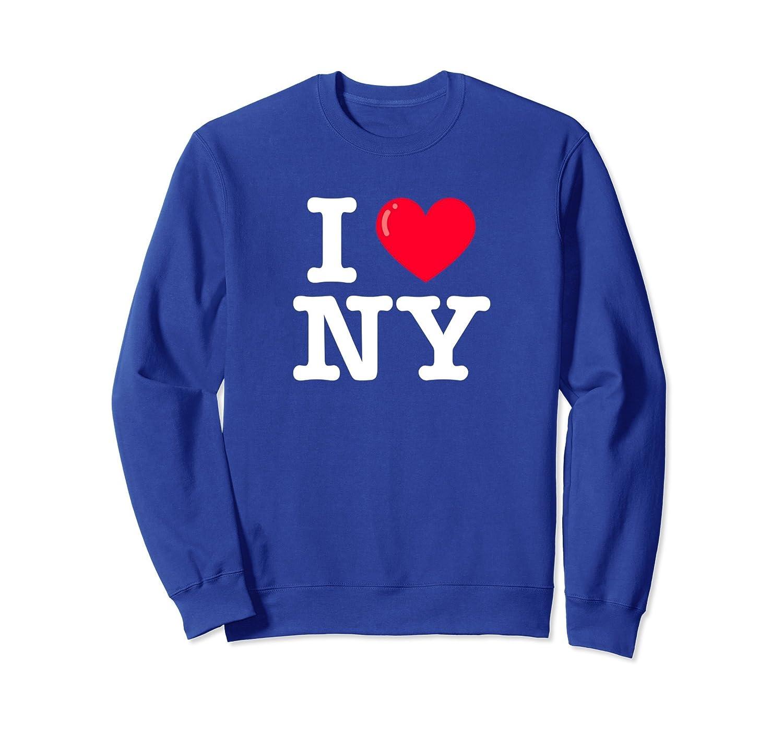 I Heart NY Classic Typewriter Font Sweatshirt-fa — Kuxovo