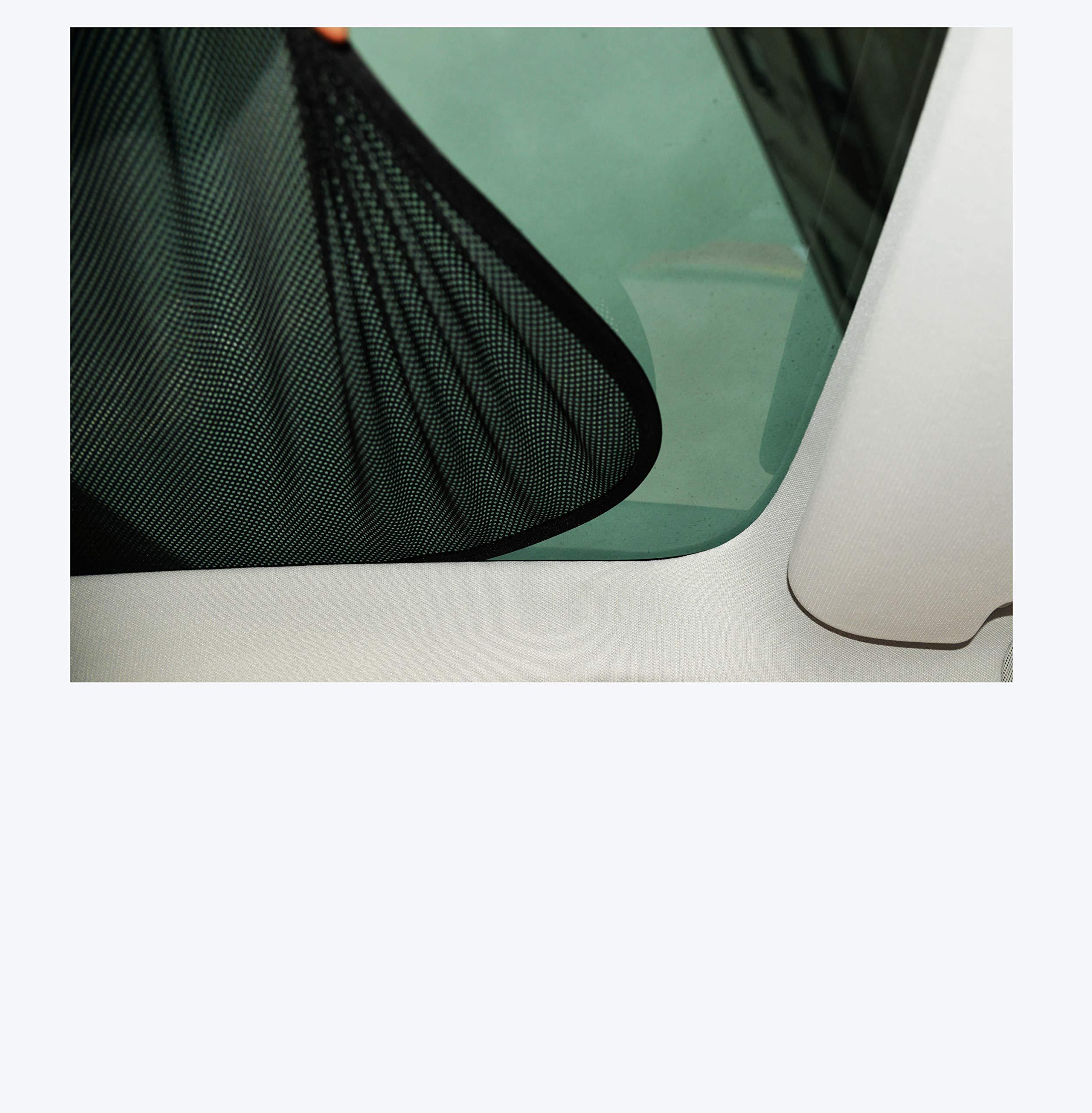 EVFIT Car Windows Sunshade Glass Roof Sunroof Sun Shade Holder Folding Customize Tesla Model 3 2018 2019 Accessories (Front Window)