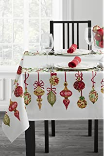 holiday trimmings fabric christmas tablecloth - Square Christmas Tablecloth