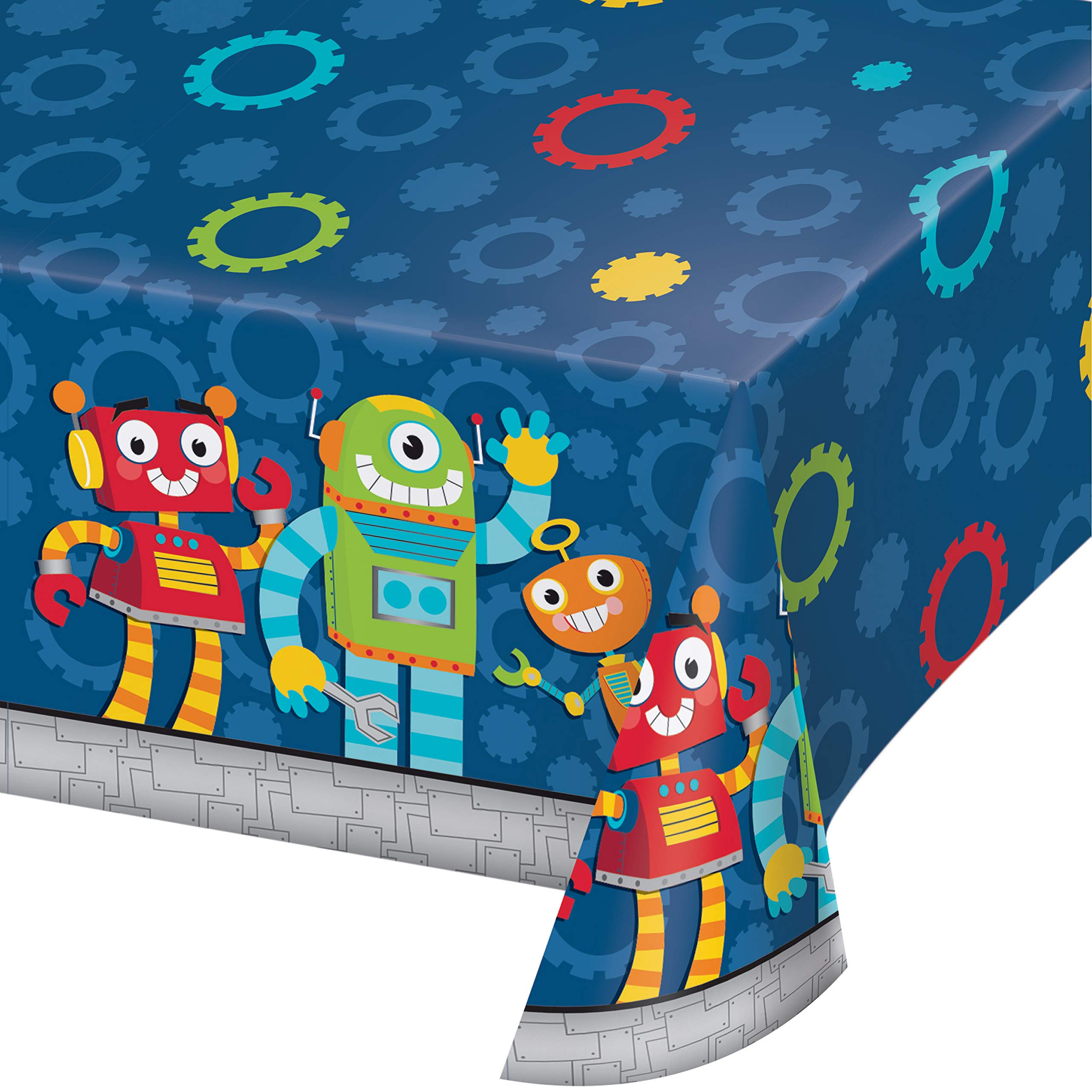 Robot Party Plastic Tablecloths, 3 ct