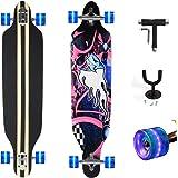 """Feldus 41"""" Longboard DROP THROUGH Skateboard Komplettboard Belastbar bis 100kg mit T-Tool und Wandhalter"""