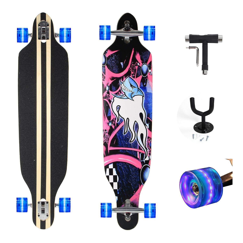 Feldus pulgadas tabla monopatín skateboard completo hecho con capas de madera de