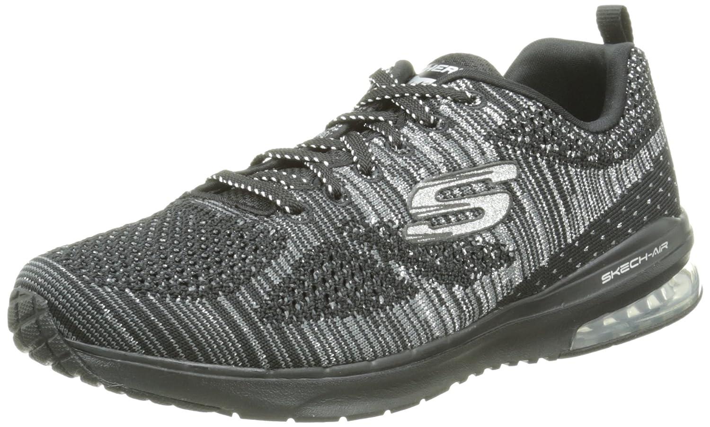 Skechers Sport Women's Skech Air Infinity Fashion Sneaker B00ZHTO5DC 8.5 B(M) US|Black/Silver