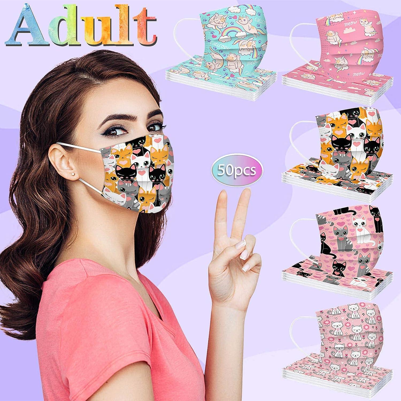 286 50//100 Stampa di Moda per Adulti,USA E Getta,Traspirante E Confortevole