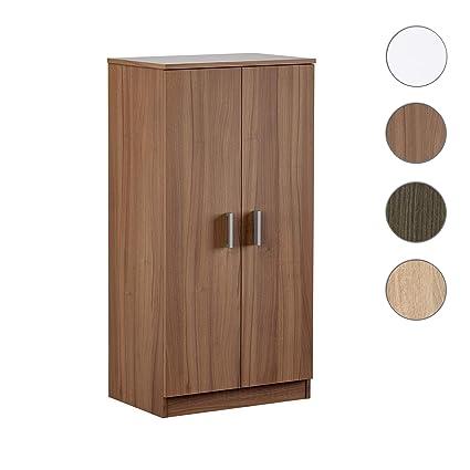 Habitdesign - Mueble Zapatero Basic, Armario Zapatero Dos Puertas, Medidas: 108 x 55 x 36 cm de Fondo. (Nogal)