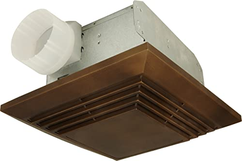 Craftmade TFV70L-DSS Bath Vent Exhaust Fan with Light 70 CFM 3.5 Sone Decibel Stainless Steel