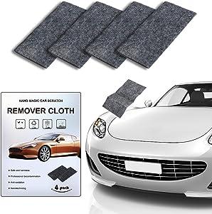 4 Pcs Nano Car Scratch Remover, CAMTOA Repairing Car Scratches Cloth, Multipurpose Car Cleaning Paint, Nano Magic Surface Polishing, Repairing Light Scratches