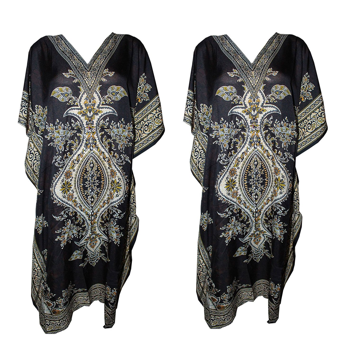 Odishabazaar Caftan Dress Long Maxi Boho Kaftan Cover up with Drawstring Waist pl-3203