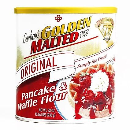 De oro del carbono Malted Pancake & Waffle Harina 33 oz cada ...