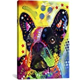 iCanvasART French Bulldog Canvas Art Print by Dean Russo, 18 by 12-Inch