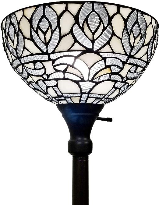 Amazon Com Amora Lighting Tiffany Style Floor Lamp Torchiere