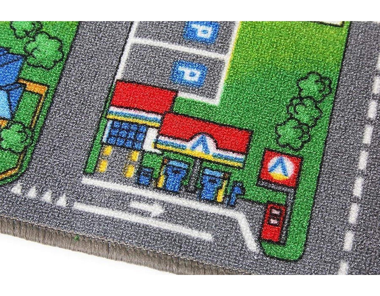 Tapis Circuit Voiture Tapis de Jeu Enfant Ideen in Textil Tapis de Jeux CHANTIER 0,95m x 2,00m Tapis Sol Enfant de Haute Qualit/é Primaflor