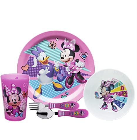 Water Bottle Bowl Zak Designs Disney Frozen II Movie Dinnerware Set Includes Plate and Utensil Tableware Made of Durable Material and Perfect for Kids Elsa /& Anna, 5-Piece Set, BPA Free