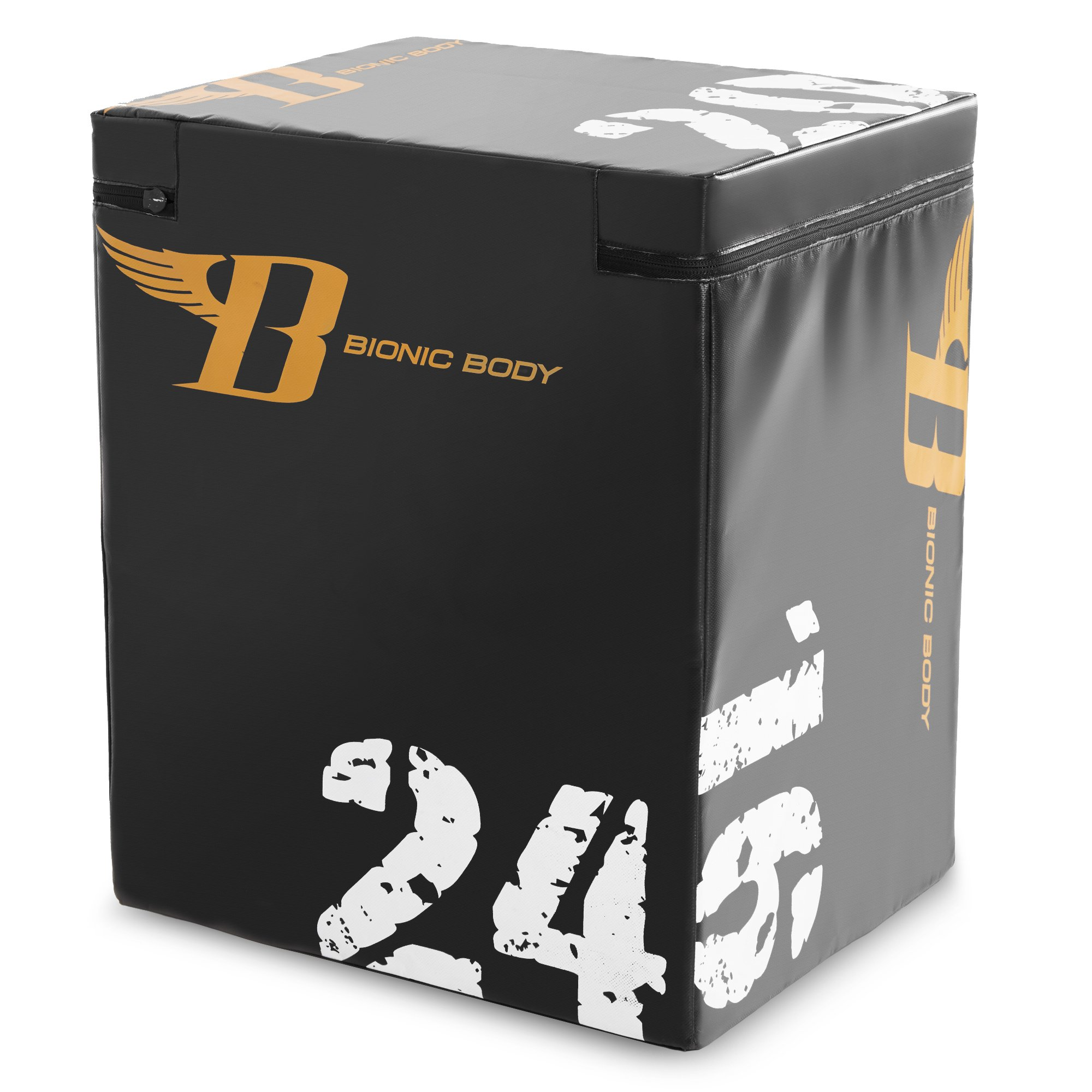 Bionic Body Plyo Exercise Box with Soft Cover BBPB-1106 – 16/20/24in Height Gym Training Accessory