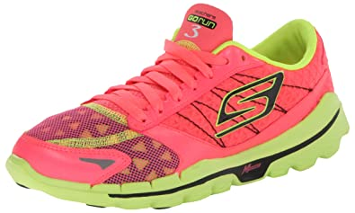 best sneakers 3a3e2 b63f8 Skechers Performance Women s Go Run 3 Running Shoe,Hot Pink Lime,9.5 M