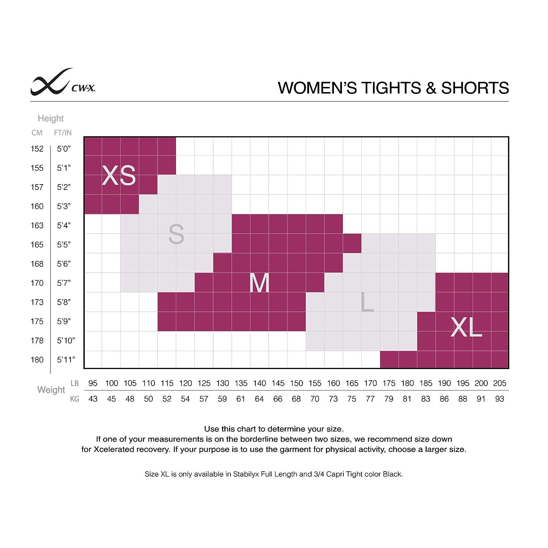 CW-X Womens Stabilyx Joint Support 3//4 Capri Compression Tight 125816-P