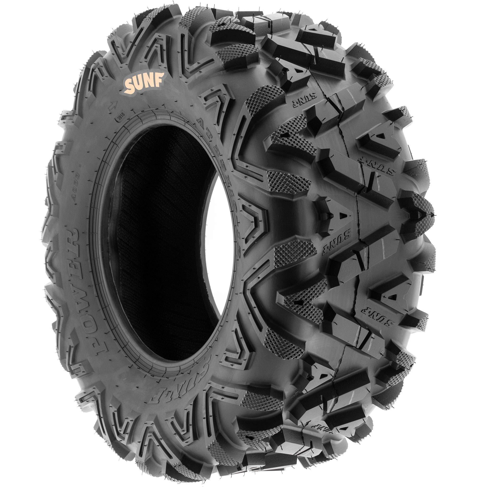 Set of 4 SunF Power.I ATV/UTV AT all-terrain Tires 24x8-11 Front & 24x11-10 Rear, 6 PR, Tubeless A033 by SUNF (Image #9)