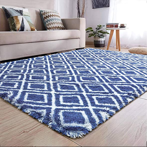 YJ.GWL Soft Indoor Modern Area Rugs Shaggy Patterned Fluffy Carpets Suitable