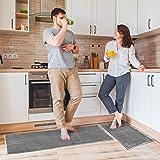 "Delxo Kitchen Rug Sets,2 Piece Non-Slip Soft Super Absorbent Kitchen Mat Doormat Carpet Set,Chenille Microfiber Material, 17"""
