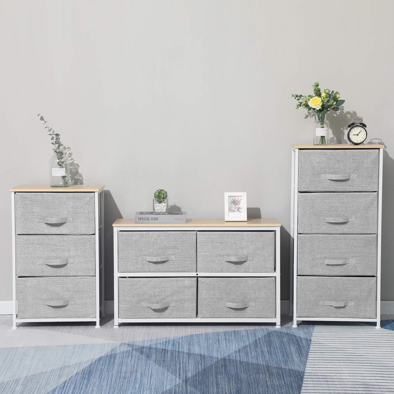 Amazon.com: Aingoo Dresser Storage 4 Drawers Storage Bedroom ...
