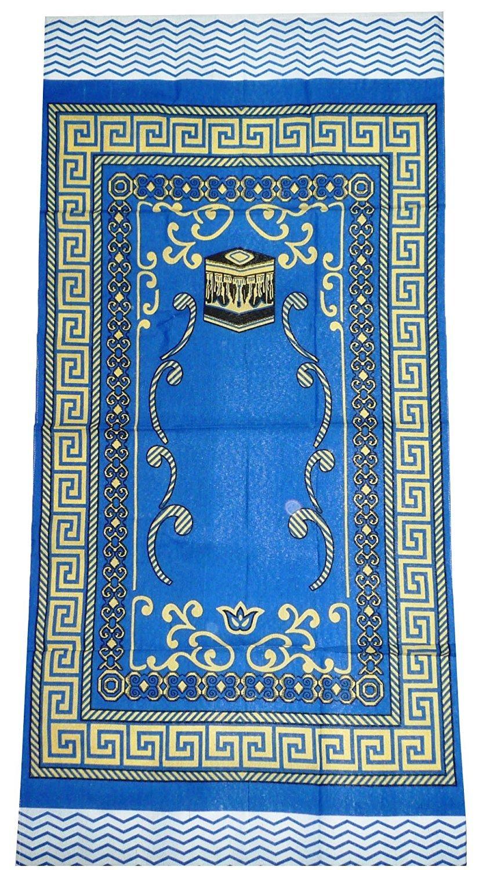 Amn Islamic Portable Prayer Mat Muslim Janamaz Sajadah Namaz Sajjadah Thin - Blue Muslim Sajadah AX-AY-ABHI-67919
