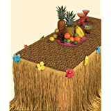 """Summer Luau Transform-a-Table Decorating Kit Tropical Hawaiian Beach Party Decoration, Plastic, 54"""" x 108"""", Pack of 2"""