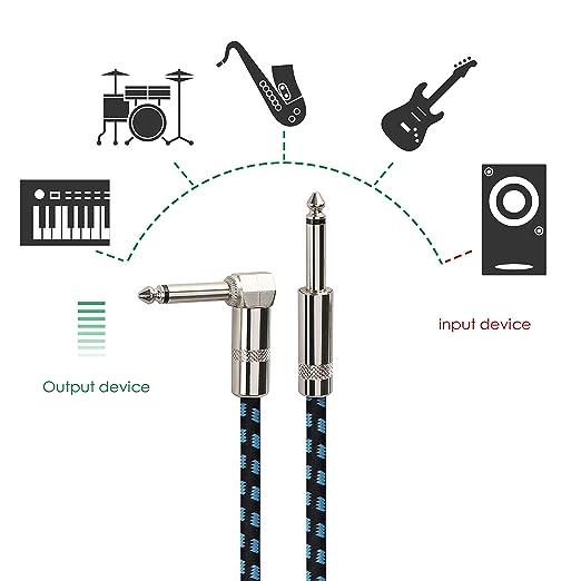 Mugig Gitarrenkabel 3M für E-Gitarre / Bass / Keyboard ...