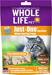 Whole Life Pet Single Ingredient USA Freeze Dried Chicken Treats for Cats