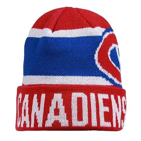 989cf22751cc6 Amazon.com   NHL Chicago Blackhawks Men s Nero Cuffed Knit Hat