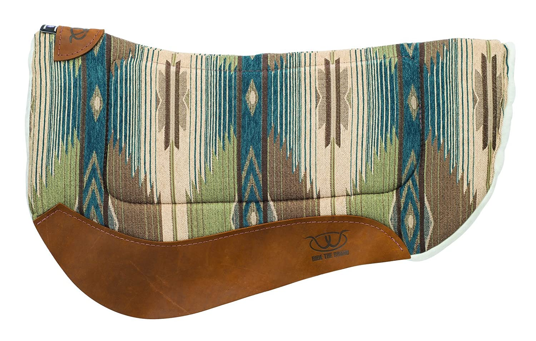 Teal Green Weaver Leather 35-9307-H37 Contoured Saddle Pad Merino Wool Fleece Lining,