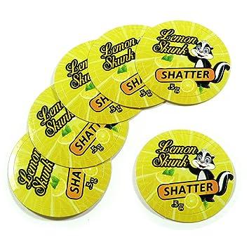 100 Yellow Lemon Skunk Shatter 1/2 Gram Medical Marijuana Cannabis