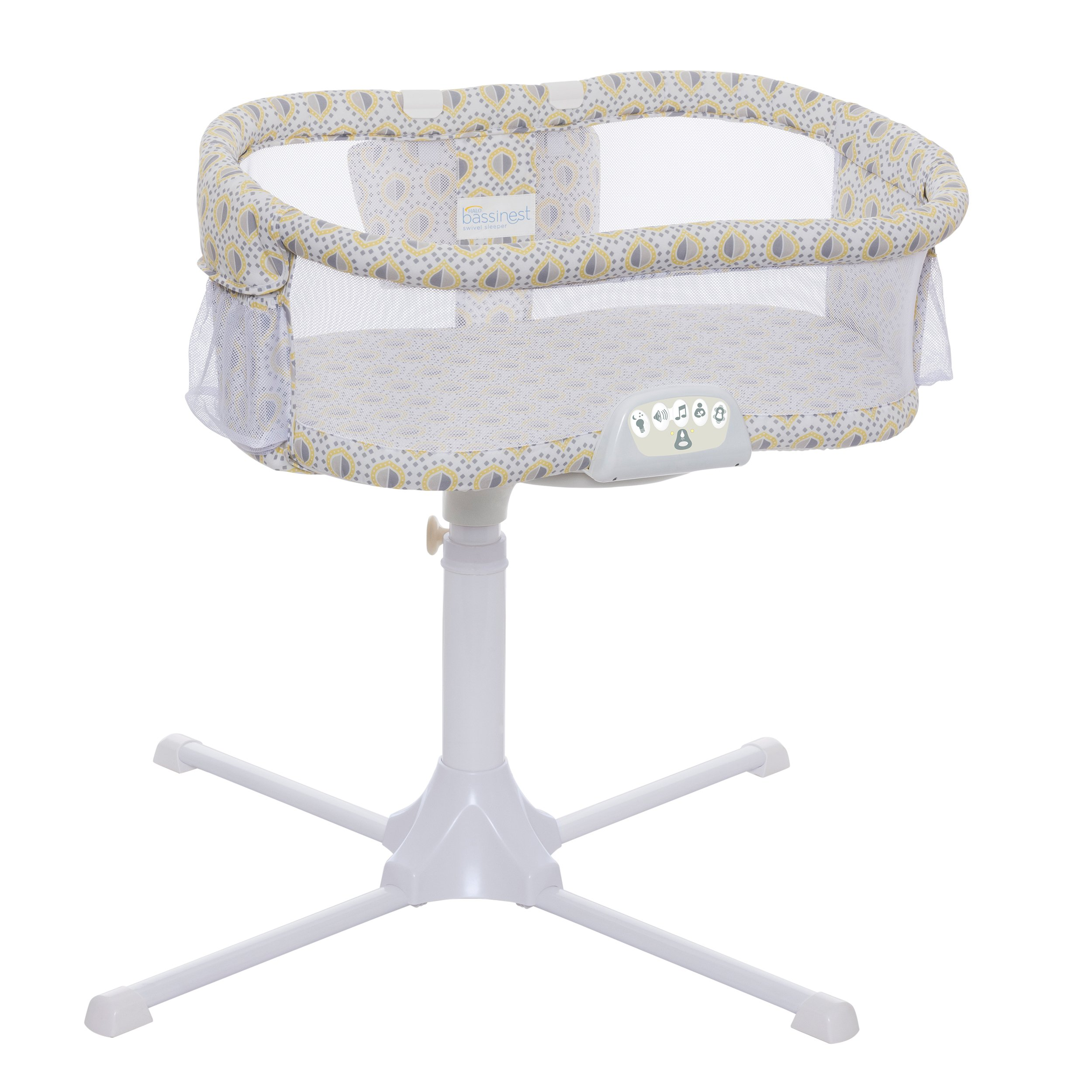 Halo Bassinest Swivel Sleeper Bassinet, Luxe Series, Lemon Drop