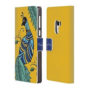Oficial Frida Kahlo pavo real carcasa tipo Cartera de piel Para Xiaomi teléfonos: Amazon.es: Electrónica