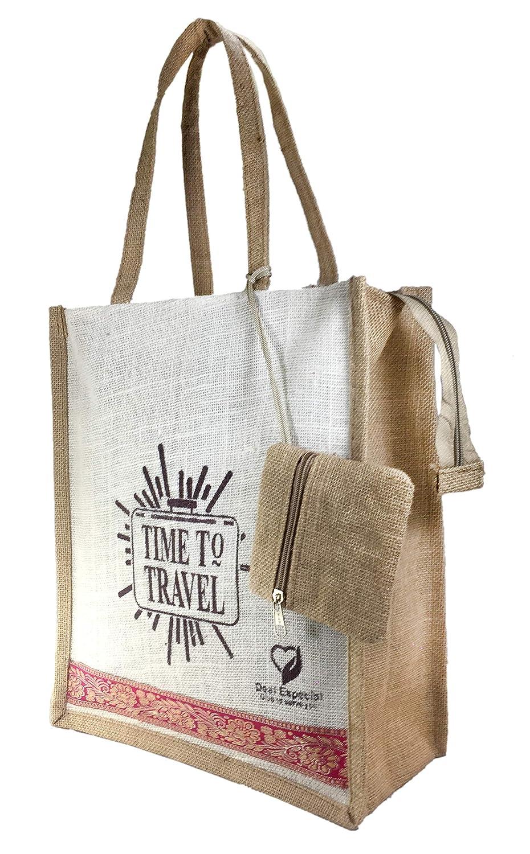 Deal especial riutilizzabile Eco friendly iuta shopping borsa con moneta della borsa