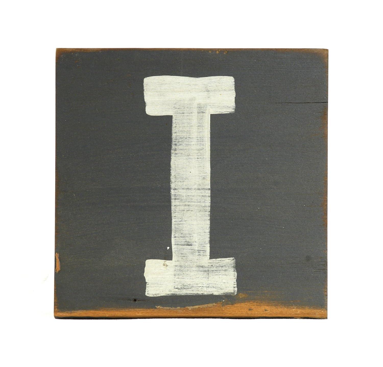 zentique Buchstabe aus Holz - klein - Monogramm I