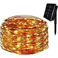 Dugue Luz Solar 22M 200 LED Guirnalda de Luces 8 Modos de Luces de Alambre de Cobre Impermeable para Decoración de Fiestas, Bodas, Navidad, Exterior e Interior (Blanco Calido)