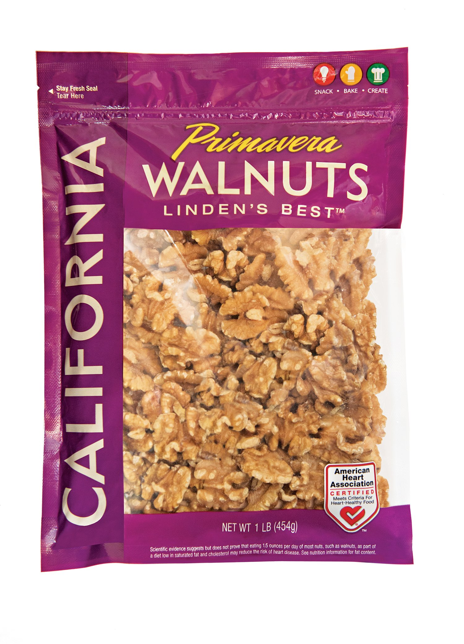 Primavera, California Premium Walnut Halves, 1 Pound Bag by Primavera