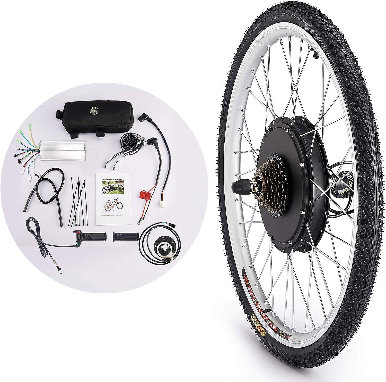 Sfeomi Kit de Conversión de Bicicleta Eléctrica 36V 500W Kit de Conversión de Bicicleta Electric Bike Conversion Kit con Controlador de Modo Dual