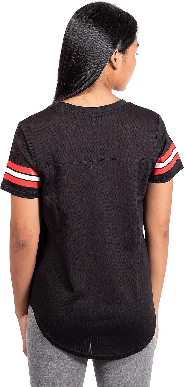 Black Small Ultra Game NBA Houston Rockets Womens Soft Mesh Jersey Tee Shirt