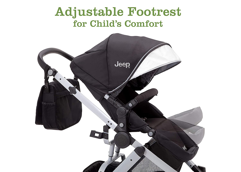 Aqua on Silver Frame Jeep Sport Utility All-Terrain Stroller