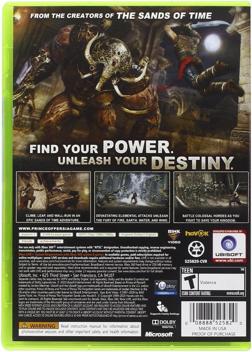 Amazon.com: Prince of Persia: The Forgotten Sands - Xbox 360 ...
