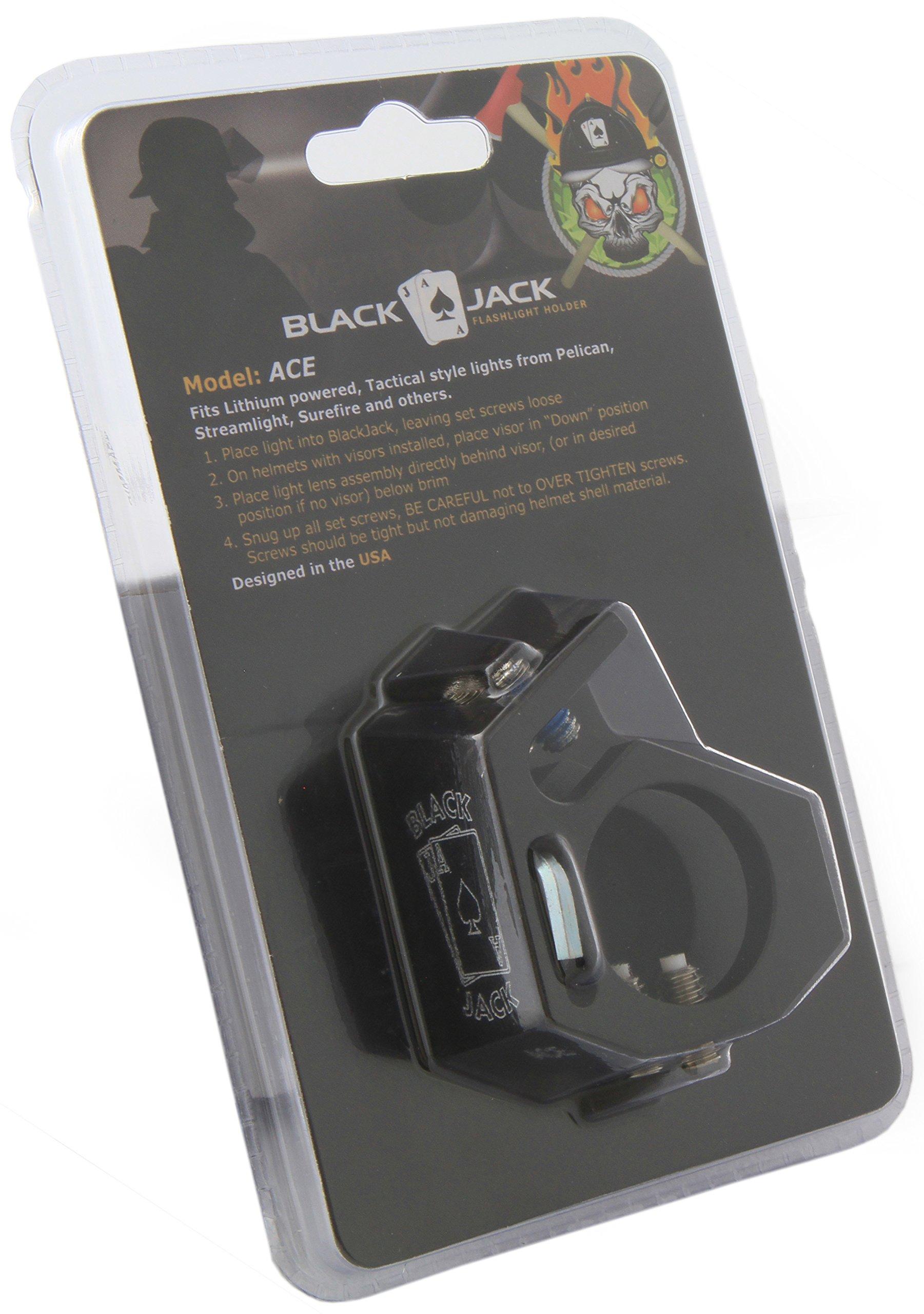 Blackjack ACE Firefighter Helmet Aluminum Flashlight Holder by Blackjack Fire & Safety (Image #9)