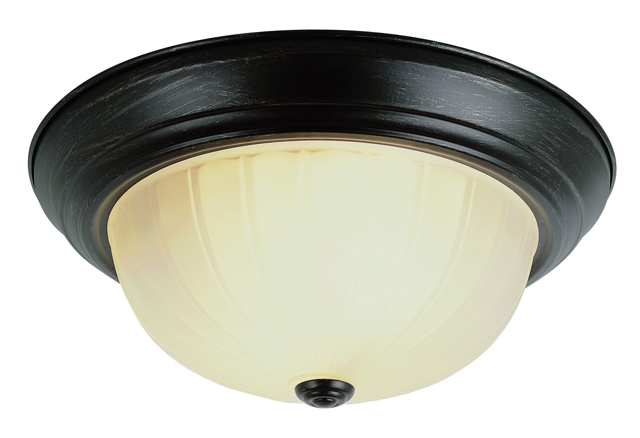 Trans Globe Lighting 13215-1 ROB Indoor Breakwater 15'' Flushmount, Rubbed Oil Bronze
